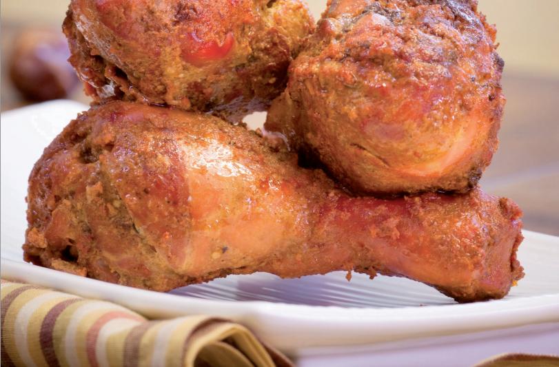 Пиле на грил с Хариса и зеленчуци на пара