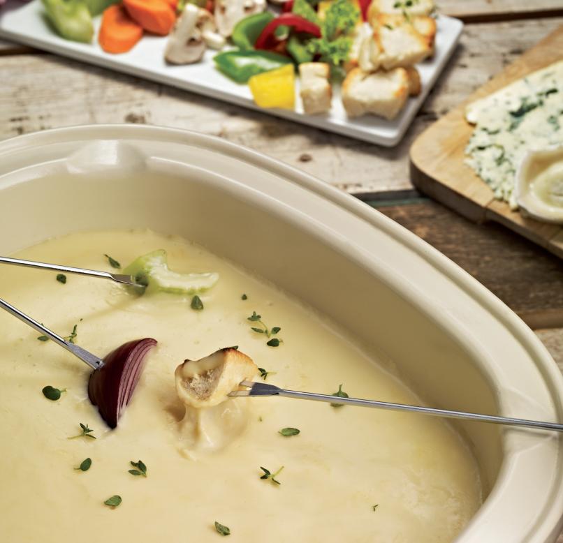 Фондю с 4 вида сирене