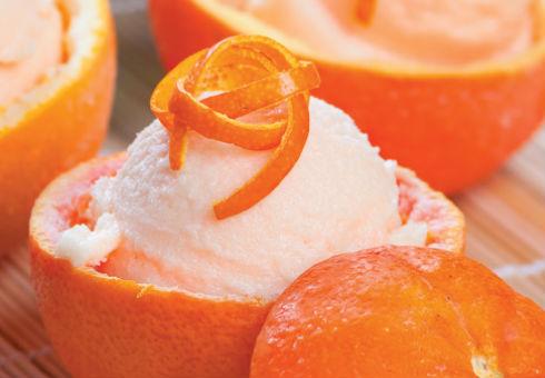 Гръцки сладолед с портокали