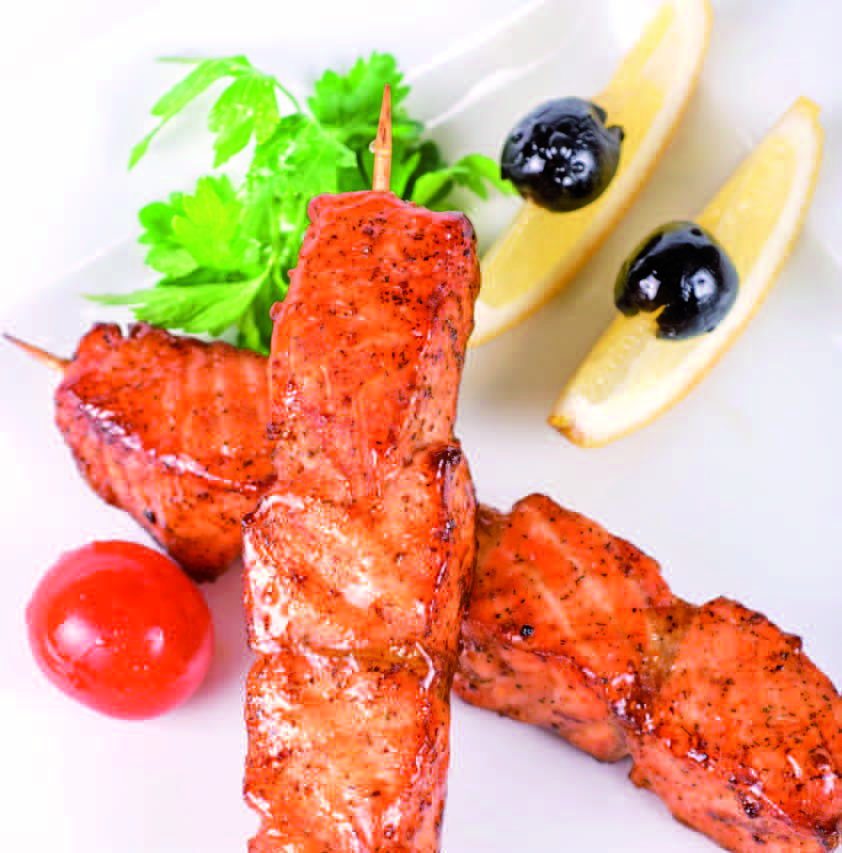 Кебаб из лосося