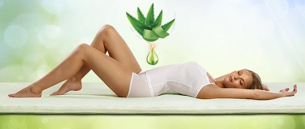 Materac nawierzchniowy Aloe Vera 3+1