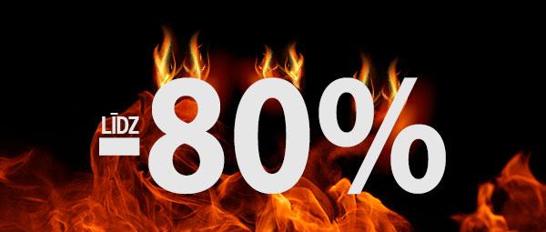 Karsto cenu dienas - atlaides līdz 80%!