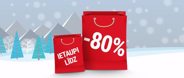Ziemas izpārdošana līdz -80%