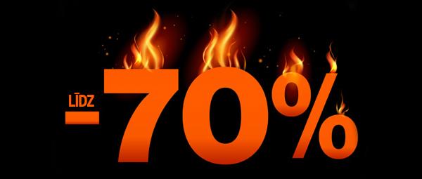 Karsto cenu dienas - atlaides līdz 70%!