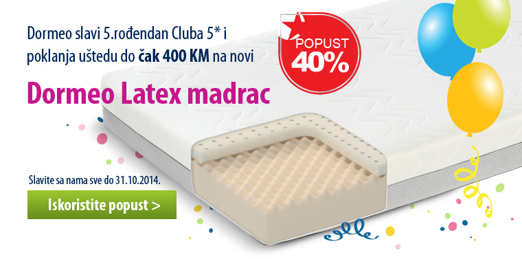 Club 5*: Dormeo Latex matress