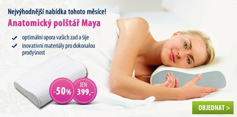Anatomický polštář Maya se slevou 50 %!