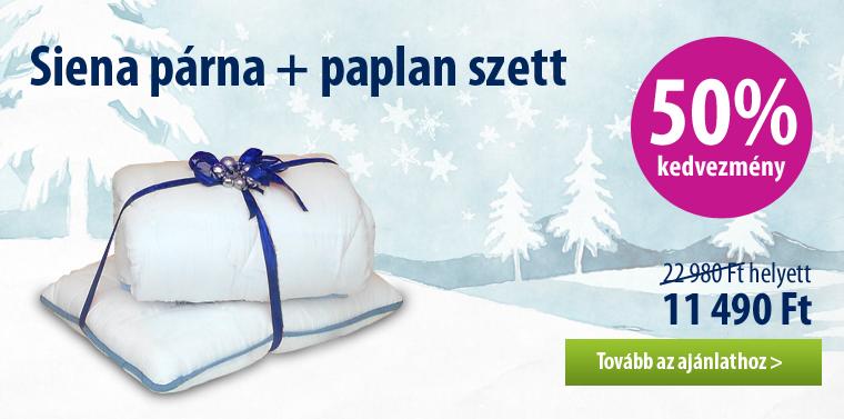 Siena párna+ paplan szettben 50% kedvezménnyel és ingyenes szállítással 2015. január 4-ig!