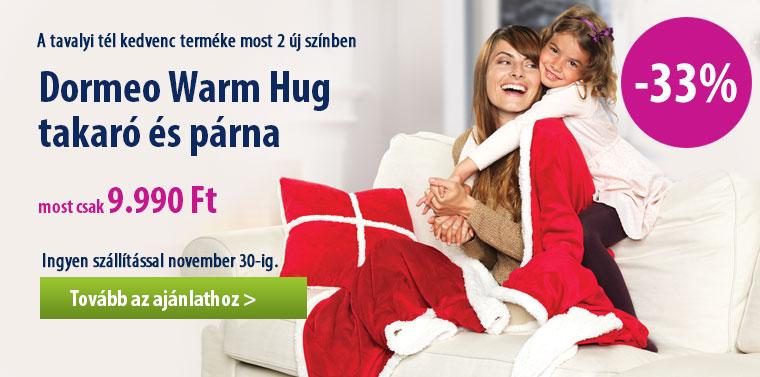 Dormeo Warm Hug takaró és párna most 2 új színben akciós áron csak 9.990 Ft-ért. November 30-ig ingyenes száééítással.