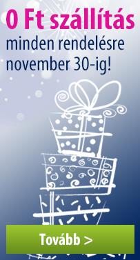 0 Ft a szállítás minden rendelésre november 30-ig!
