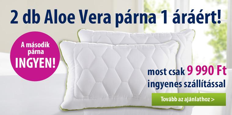 2 db Aloe Vera párna 1 áráért! Csak 9.990 Ft-ért ingyenes szállítással
