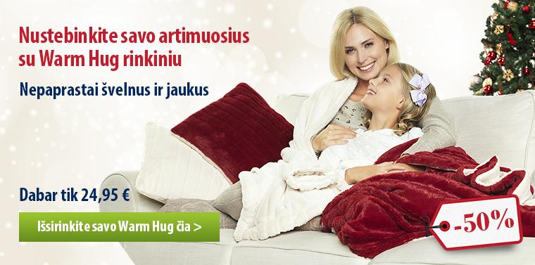 Warm Hug užklotas ir pagalvė