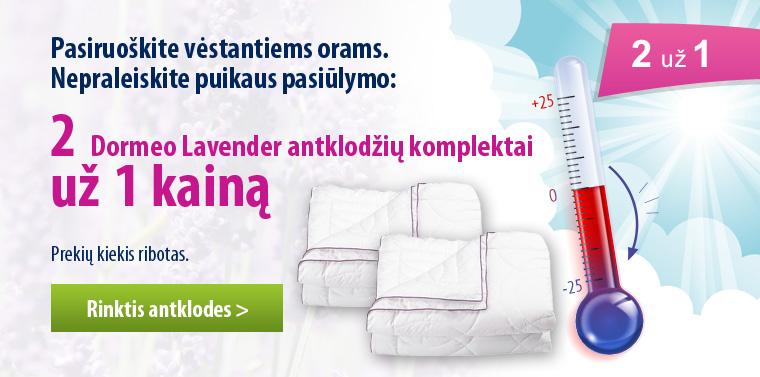 2 dormeo antklodės už 1 kainą
