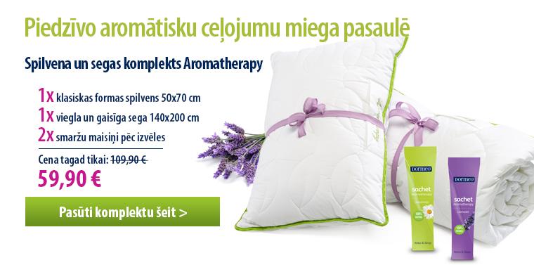 Aromterapijas segas un spilveni no Dormeo