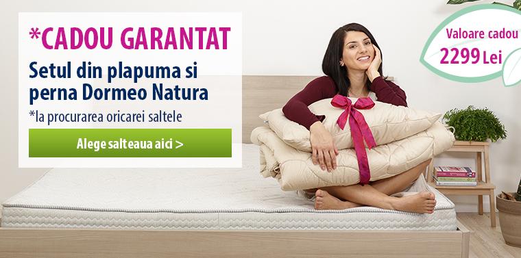 Somn Natural Perfect cu setul Dormeo Natura!