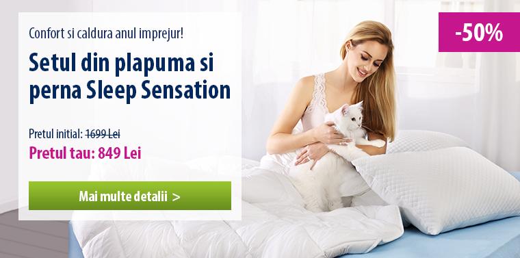 Setul din plapuma si perna Sleep Sensation - 50% REDUCERE!