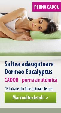 Saltea subtire Dormeo Renew Eucalyptus 6 cm
