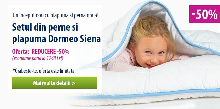 Setul din perne si plapuma Dormeo Siena - 50% REDUCERE!
