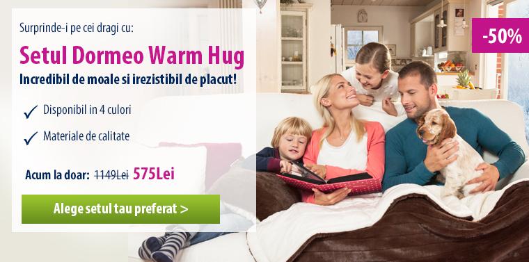 Surprinde-i pe cei dragi cu setul Dormeo Warm Hug!