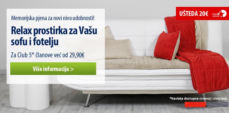 Relax prostirka za Vašu sofu i fotelju