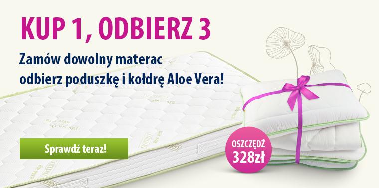 Materac Dormeo Aloe Vera - kołdra + poduszka gratis