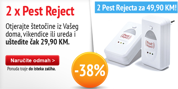 Pest reject 2 pcs do isteka zaliha