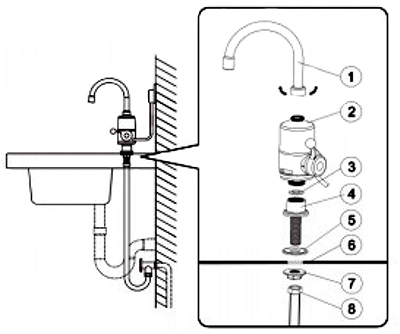 DELIMANO INSTANT WATER HEATING FAUCET