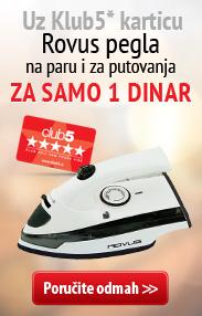 Klub kartica i pegla za 1 rsd