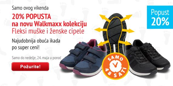 Walkmaxx Fleksi muške i ženske cipele uz 20% popusta