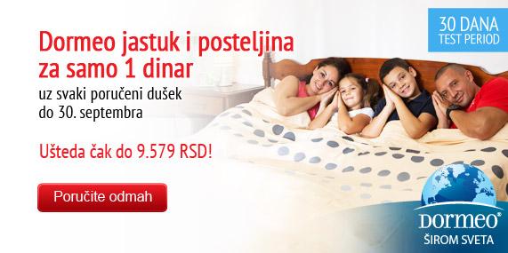 Velika Dormeo akcija - Duseci jastuk i posteljina