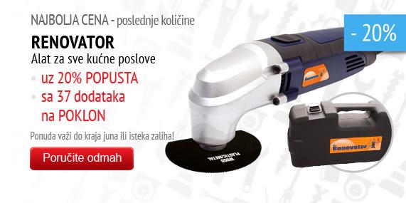 Renovator višenamenski ručni alat – snižena cena + dodaci za 1 rsd