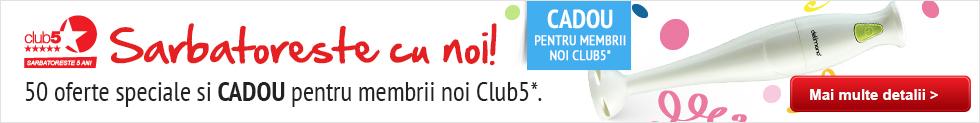 Devino membru Club5 si primeste CADOU GARANTAT!