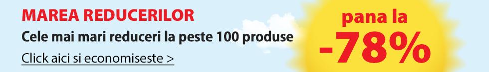 Cele mai mari reduceri la peste 100 produse!