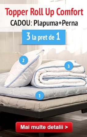 Roll Up Comfort + CADOU: Plapuma si perna