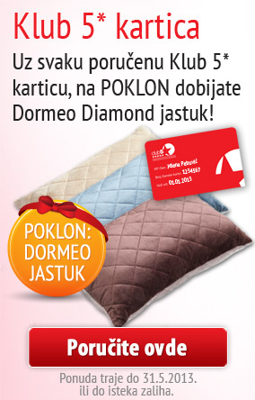 Jastuk na poklon uz Klub5 karticu