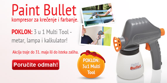 Paint Bullet  kompresor za kreenje i farbanje + poklon