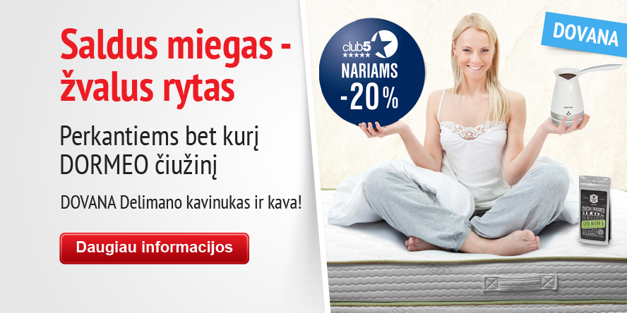 dormeo mattress + coffe + 20off