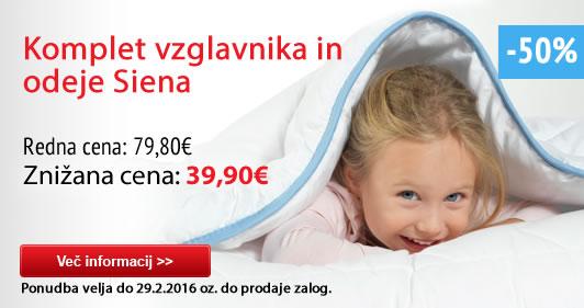 Dormeo nadvložek Siena gel 3+1Komplet vzglavnika in odeje Siena -50%