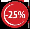 25% reducere