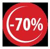 70 discount picto